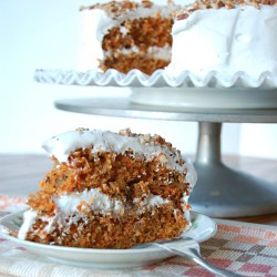 Carrot Cake with White Icing