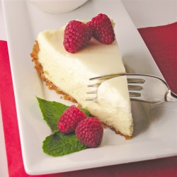Cheesecake with Sour Cream Topping