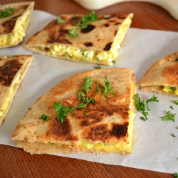 Cheesy Breakfast Quesadillas Recipe
