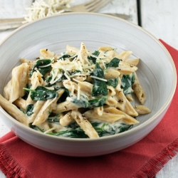 Cheesy Penne with Spinach