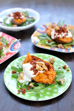 Cheesy Twice-Baked Sweet Potatoes