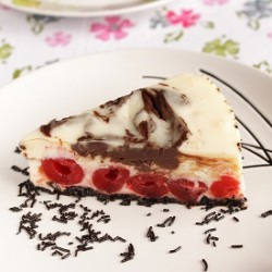 Cherry Chocolate Marble Cheesecake