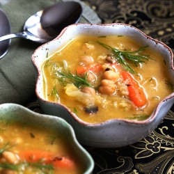 Chickpea Rice Soup