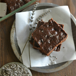 Chocolate Lavender Brownies Recipe