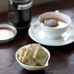Chocolate Mint Tea Shortbread