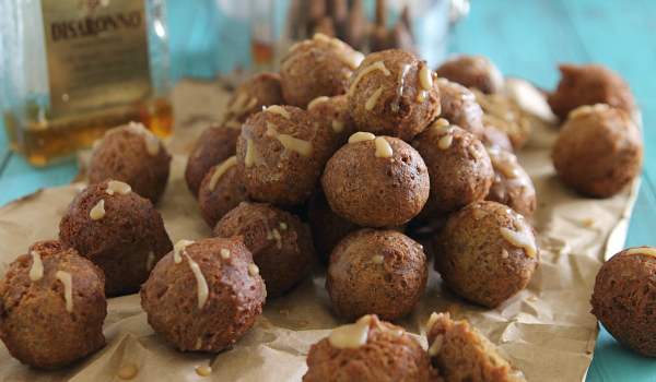 Chocolate Pumpkin Donut Holes with Amaretto Glaze Recipe