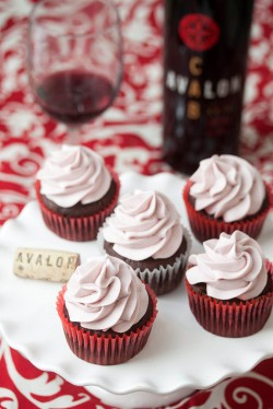 Chocolate Red Wine Cupcakes with Red Wine Buttercream Recipe