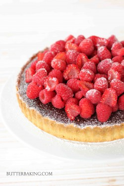 Chocolate Truffle and Raspberry Tart Recipe
