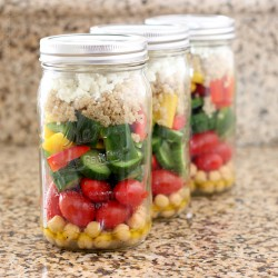 Chopped Salad-in-a-Jar