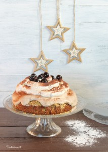 Cinnamon Sponge Cake with Chestnut Mousse and Whipped Cream Recipe