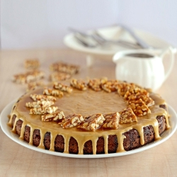 Coconut Molasses Mousse Cake
