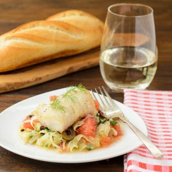 Cod with Grapefruit Fennel Slaw
