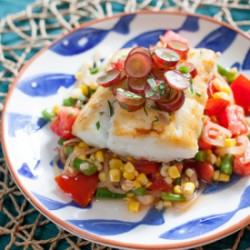 Cod with Summer Succotash