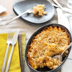 Crab and Elbow Pasta Gratin