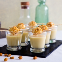 Creamy Corn Soup with Crunchy Coated Cheese Recipe