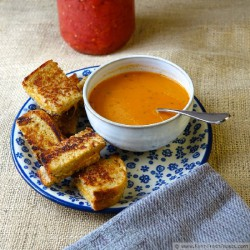 Creamy {Home-Canned} Tomato Soup