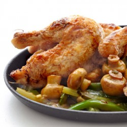Crispy Poussin with Stirfry Sauce