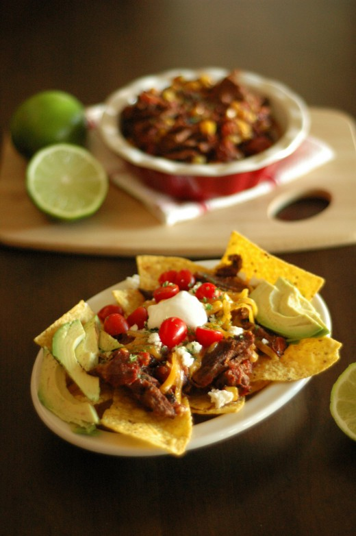 Crockpot Chipotle Beef Nachos Recipe
