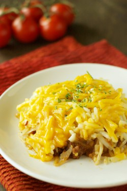 Crockpot Sloppy Joe Casserole