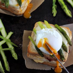 Croque Madame with Asparagus