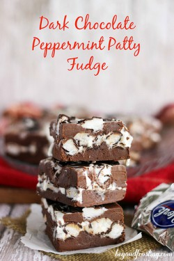 Dark Peppermint Patty Fudge