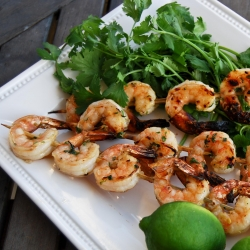 Delicious Grilled and Brined Shrimp
