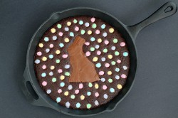 Easter Bunny Skillet Brownie