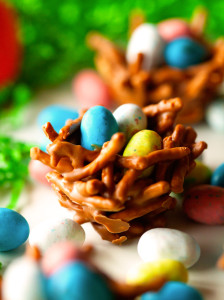 Easter Chocolate n' Candy Nests