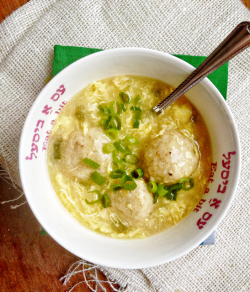 Egg Drop Matzo Ball Soup Recipe