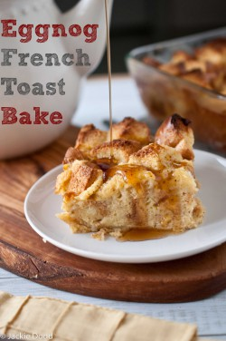 Egg Nog French Toast Bake