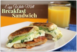 Egg White Melt Breakfast Sandwich
