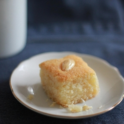 Eggless Semolina and Coconut Cake