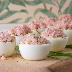 Eggs with Basil and Ham