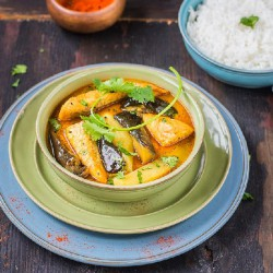 Fish curry with Eggplant