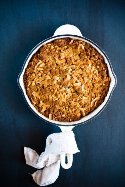 Frangipane, Apple and ANZAC Crumble