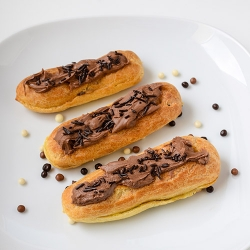 French Eclairs with Coffee Pudding