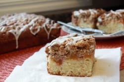 Fresh Peach Crumb Cake