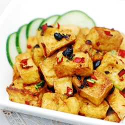 Fried Beancurd Fermented Black Bean