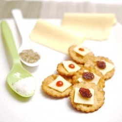 Fried Shallot and Rosemary Crackers
