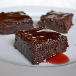 Fudgey Dark Chocolate POM Brownies