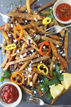 Fully Loaded Spiced Greek Fries