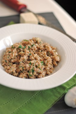 Garlic and Parmesan Farro Recipe