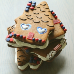 Gingerbread Smores House Recipe with Eggnog Marshmallow Filling