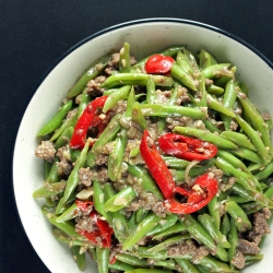 Green Beans and Minced Beef Stir Fry Recipe