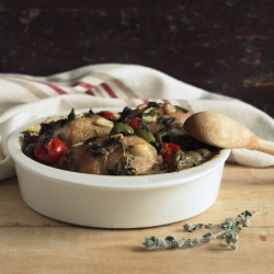 Green Olive Baked Chicken