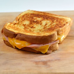 Grilled Ham and Colby-Jack Cheese