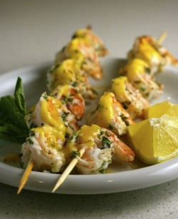 Grilled Shrimp with Mango Coulis