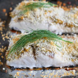 Hummus-Crusted Baked Fish