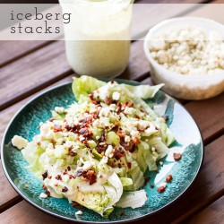 Iceberg Lettuce Stacks with Green Goddess Dressing and Bacon Recipe