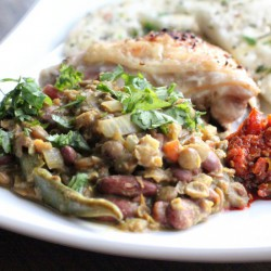 Indian Green Lentil Curry